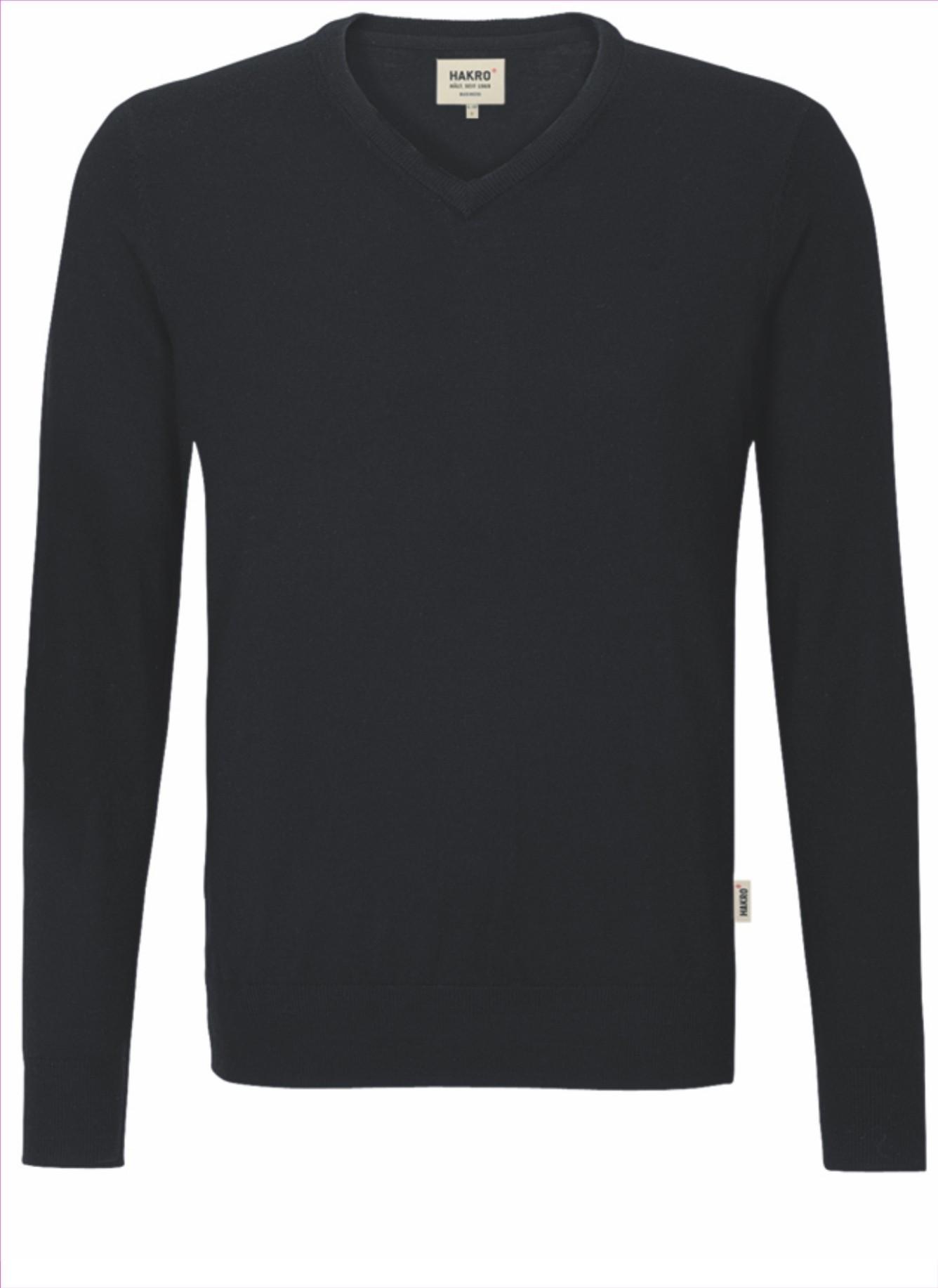 HAKRO V-Pullover Merinowolle Herren