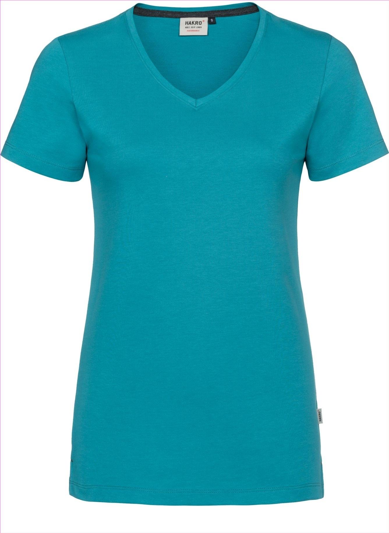 HAKRO V-Shirt Cotton-Tec Damen