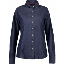 Seven Seas Bluse Blue Denim