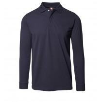 Langarm Poloshirt mit Druckknöpfen