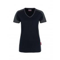Damen V-Shirt mit Kontrast