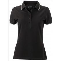 JN Damen Poloshirt mit Kontraststreifen