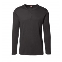 Langarm-T-Shirt, 1x1 gerippt, 100%BW