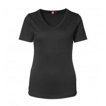 Damen-Interlock T-Shirt mit V-Ausschnitt