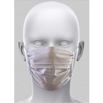 Mund-Nasen-Maske mit Bindeband hellgrau