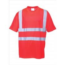 PORTWEST Warnschutz-T-Shirt rot Unisex