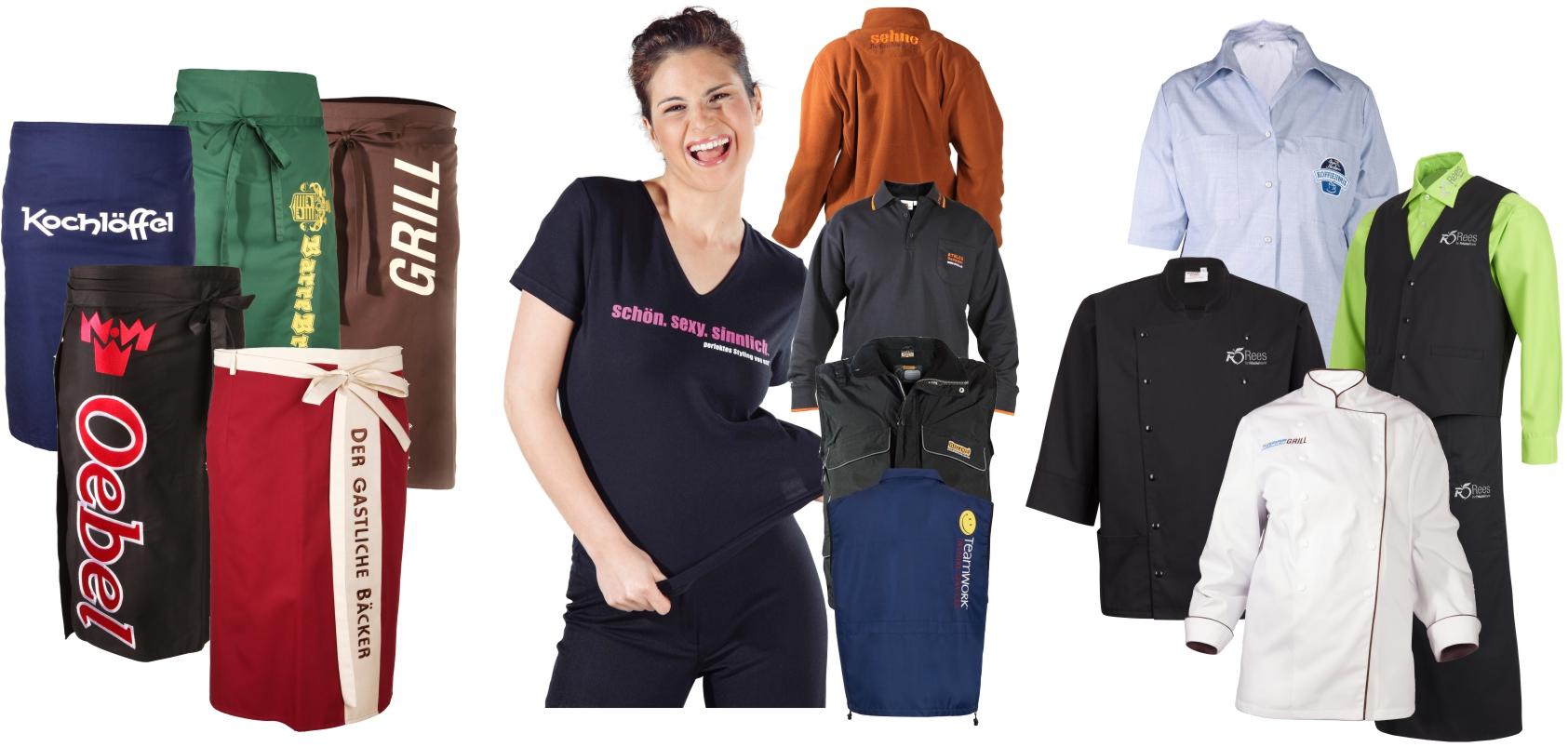 Arbeitsbekeidung und Berufsbekleidung mit Logo und Bestickung