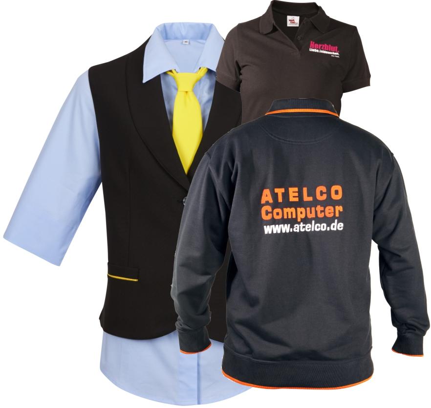 arbeitsbekleidung Berufsbekleidung mit eigenem Logo hemd jacke jacket bluse krawatte