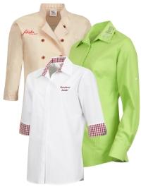Berufsbekleidung Bluse beige weiss apfelgrün online kaufen im Online Shop bei workline