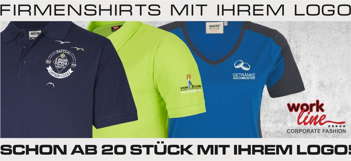 Firmenshirts mit eigenem Logo