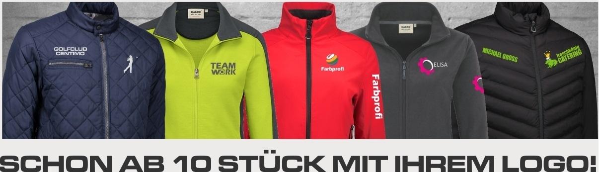 Jacken mit eigenem Logo firmenjacken vereinsjacken