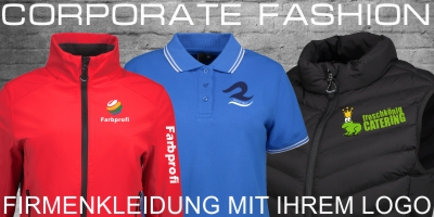 Corporate Fashion mit Firmenlogo