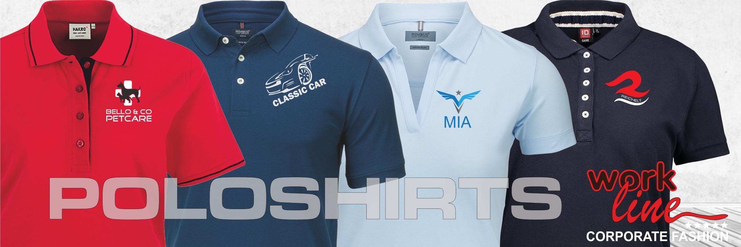 Poloshirts mit eigenem Logo