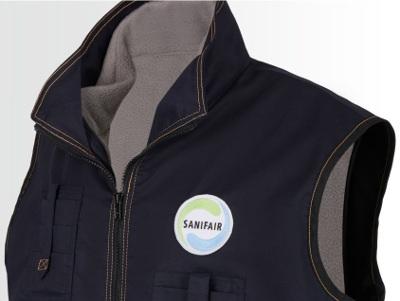 Arbeitsbekleidung mit Logo als Stickemblem aufgenäht