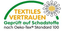 Textiles Vertrauen - Geprüft auf Schadstoffe nach Oeko-Tex Standard 100