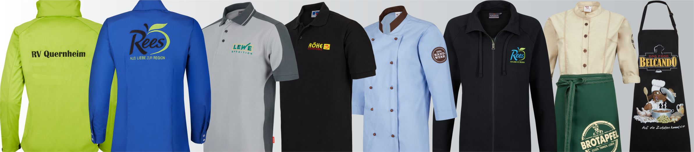 Arbeitsbekleidung mit Logo